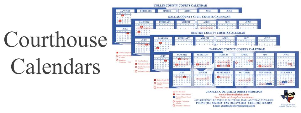 2016 Metroplex Court Calendars