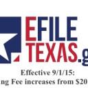 Increased eFiling Fees effective 9/1/15